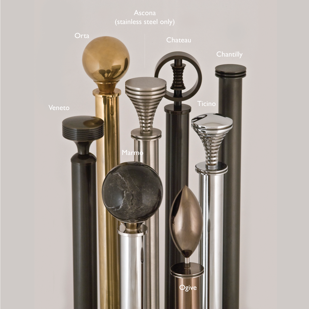 curtain pole finials for metallic collection 30mm jago. Black Bedroom Furniture Sets. Home Design Ideas