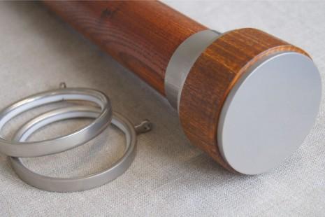 Deep Mahogany – Chillon finial for 65mm dia pole