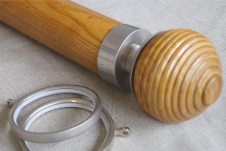 English Light Oak pole – Sicily finial for 65mm & 50mm dia pole