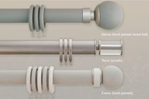 Curtain Pole Finials Range for Synergy Collection | 50mm Diameter